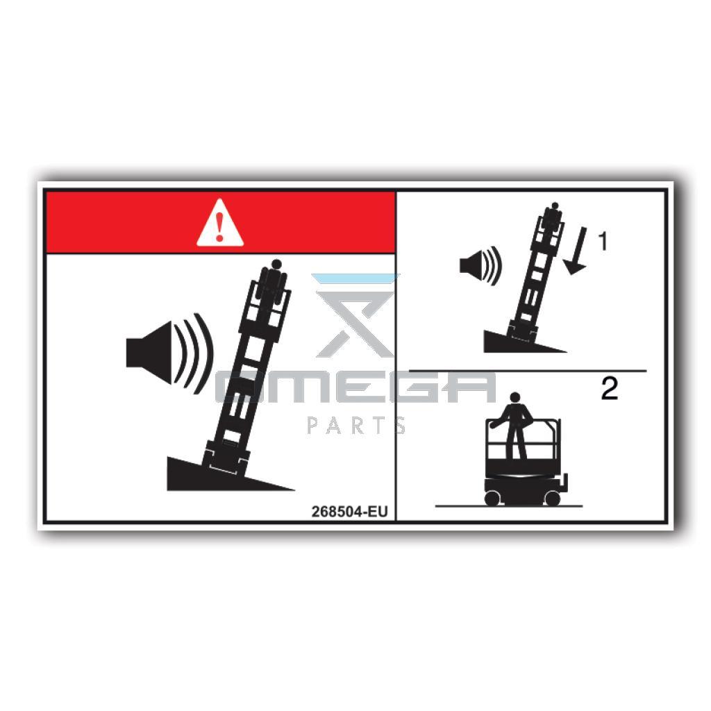 GMG  268504-EU GMG Decal tip-over hazard sound EU