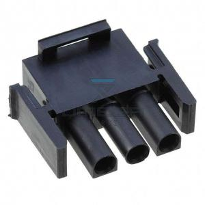 AMP  1-350766-9 Plug housing - 3way - Black