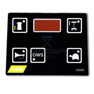 GMG  21010 Decal - control box - overlay