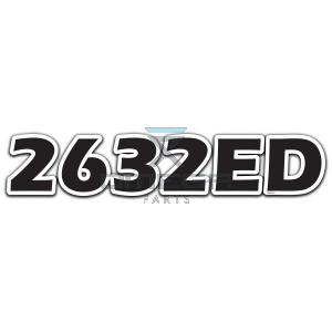 GMG  830122 DECAL - 2632ED - 525x102mm
