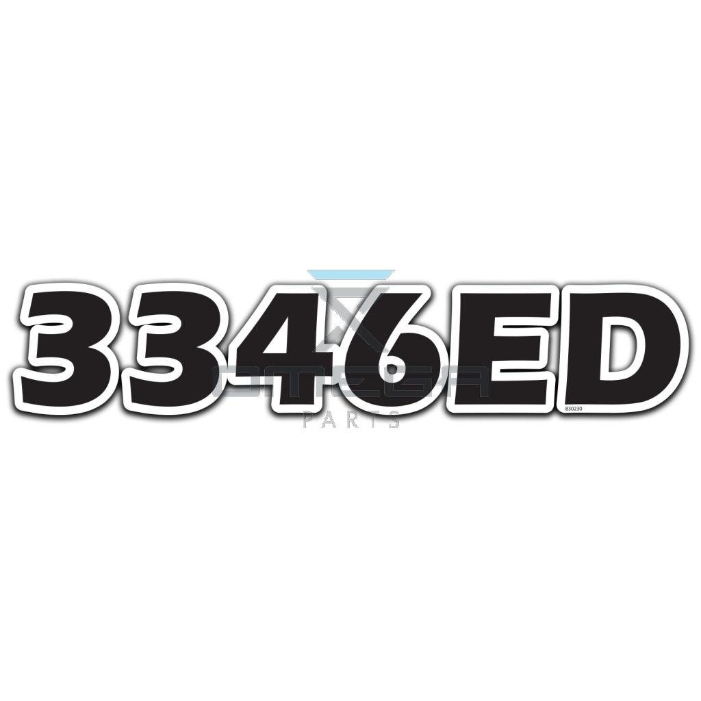 GMG  830230 DECAL - 3346ED - 522x102mm