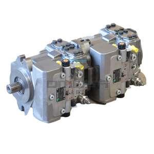 Rexroth R902223482 Hydraulic pumpset 64+64+SAE C