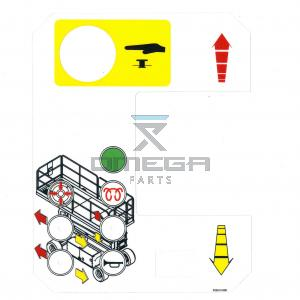 UpRight / Snorkel 502612-000 Decal, upper control