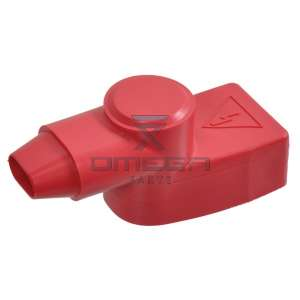 OMEGA  516340 Battery terminal cover (shield) Red