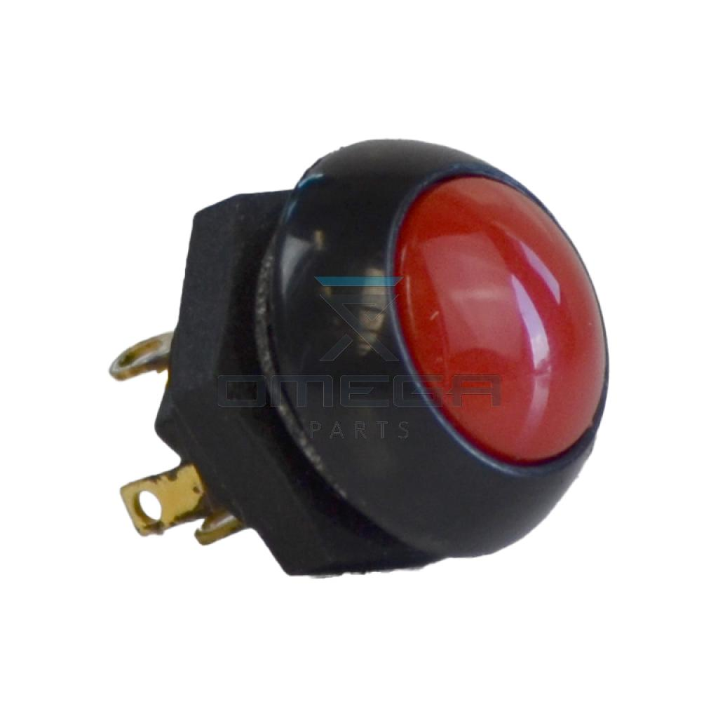 OMEGA 542764 Push button - red - 12mm - SPDT-DB