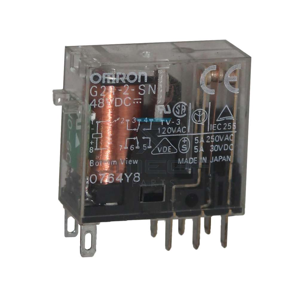 OMEGA  610118 Omron relay - double contacts - 48Vdc