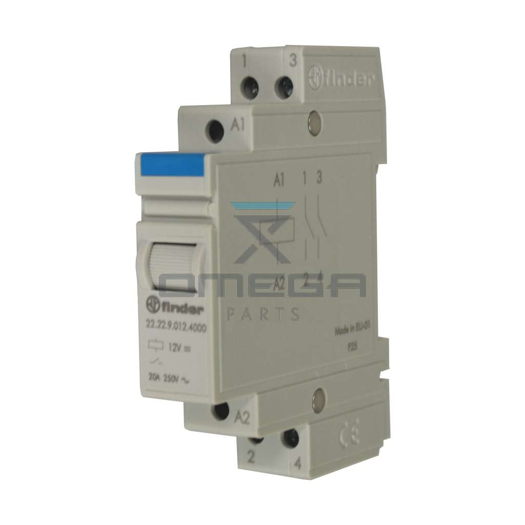 OMEGA  612448 Relay 12Vdc coil - modular - 20A max current