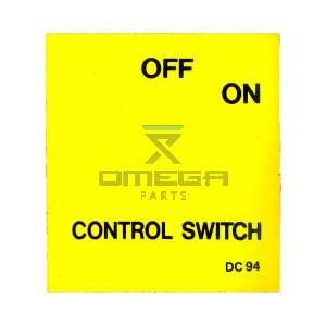 UpRight / Snorkel 062322-000 Decal key switch