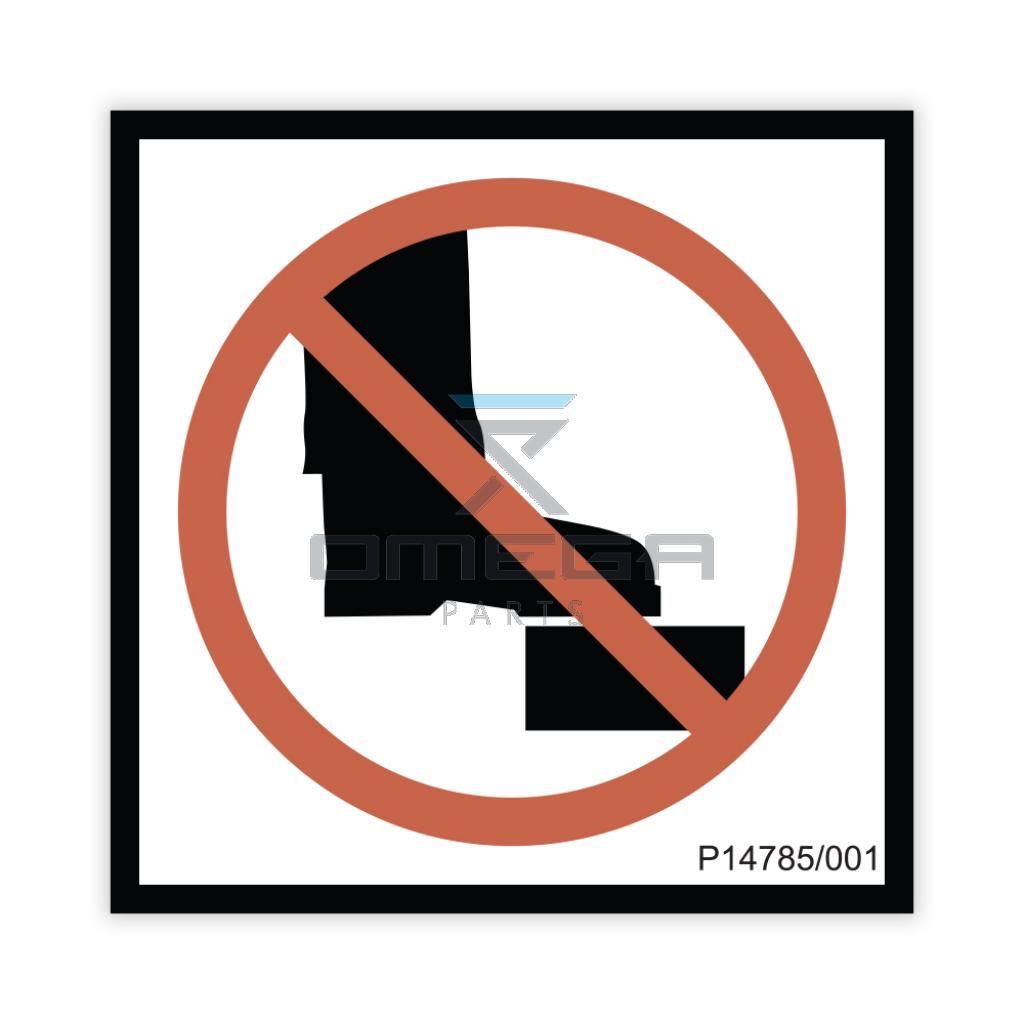 NiftyLift  P14785 Decal - no step