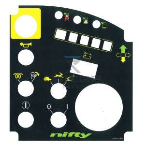 NiftyLift  P20237 Decal upper control HR15/17/18/21