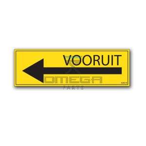 OMEGA  620510 Decal - Direction drive - forward - arrow left NL