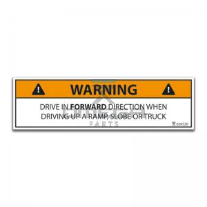 OMEGA  620520 Decal - drive forward only when driving up... EN