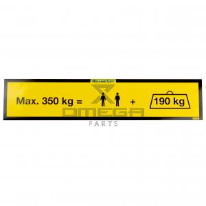 Holland Lift ST-S-005 Decal - max 350 kg