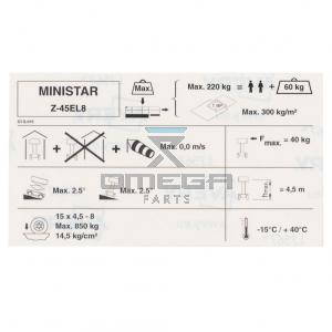 Holland Lift ST-S-019 Decal symbol - ministar