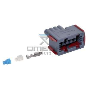 OMEGA  710184 Plug connector 4 way - for PVE Danfoss coil