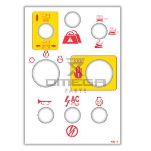 MEC Aerial Work Platforms 93215 Decal - upper control box