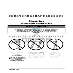 SNORKEL 060572-025-NL Operator manual X-series 6300 - 19999