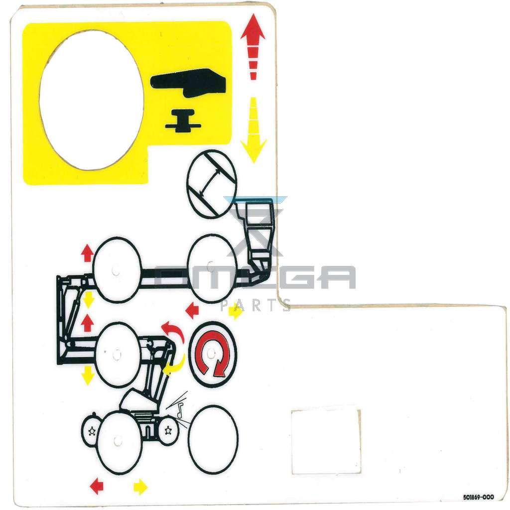 UpRight / Snorkel 501869-000 Decal upper control box AB38