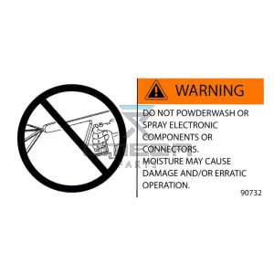 MEC Aerial Work Platforms 90732 Decal Warning - powderwash