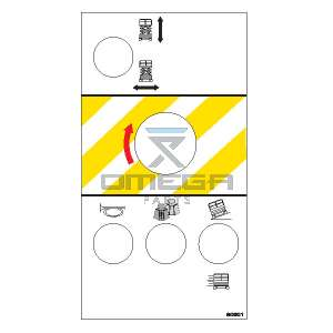 MEC Aerial Work Platforms 90901 Decal Upper control box