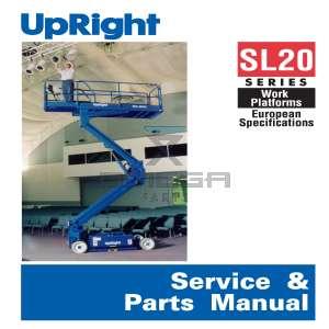 UpRight / Snorkel 101199-022 Service & Parts Manual SL20 9300->