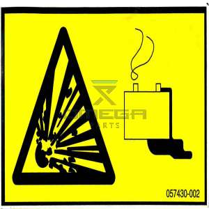 UpRight / Snorkel 057430-002 Decal hazard batteries