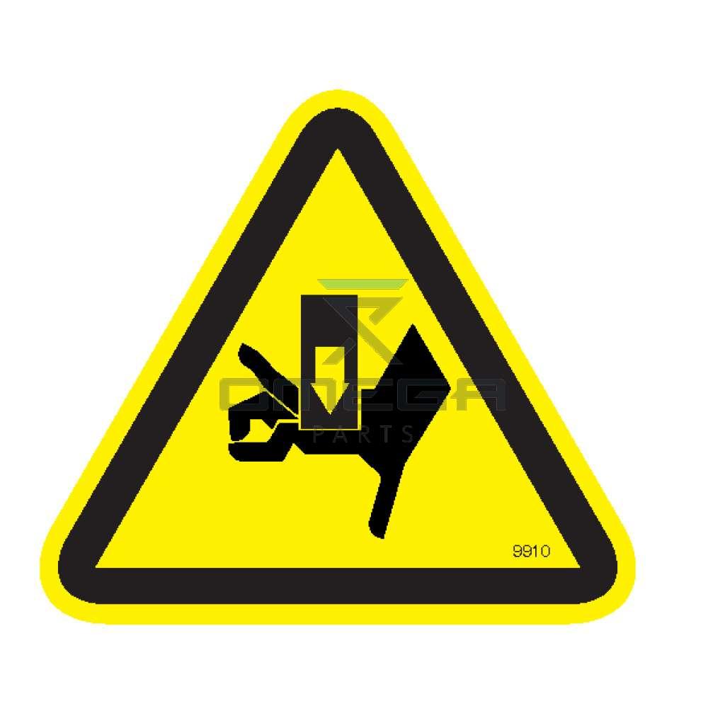 MEC Aerial Work Platforms 9910 Decal crushing hazard