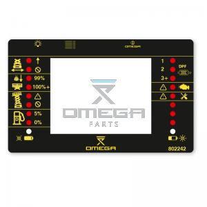 OMEGA  802242 Decal - Display and LED info