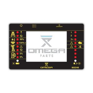 OMEGA 802248 Decal - Display and LED info - NO DPF