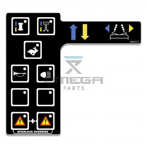OMEGA 806212 Decal - overlay, lower section - control box 305RS