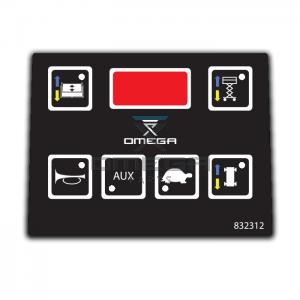 OMEGA  832312 Decal - upper control box
