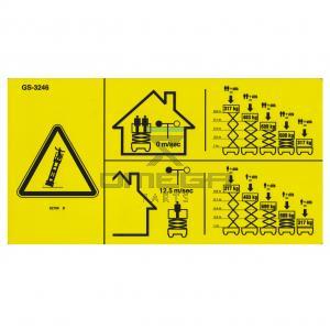 Genie Industries  82789 Decal - SWL - GS-3246