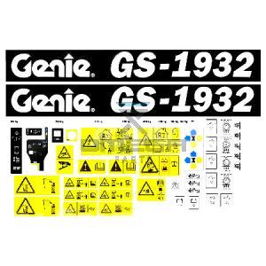Genie Industries  233261 Decalkit Genie 1932