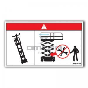 GMG  268473-EU GMG Decal Tip-over hazard EU