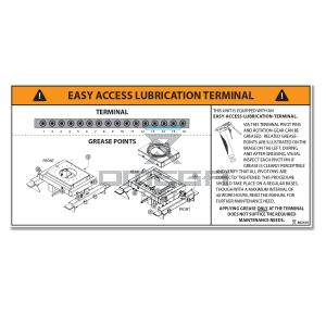 OMEGA  862410 Decal - Easy access lubrication terminal