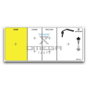 OMEGA  883232 Decal - crane operation -