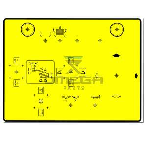 Terex  470110447 Decal upper controls