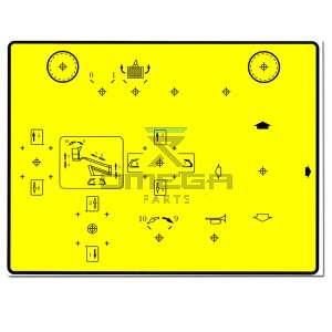 Terex 470110447 Decal upper controls