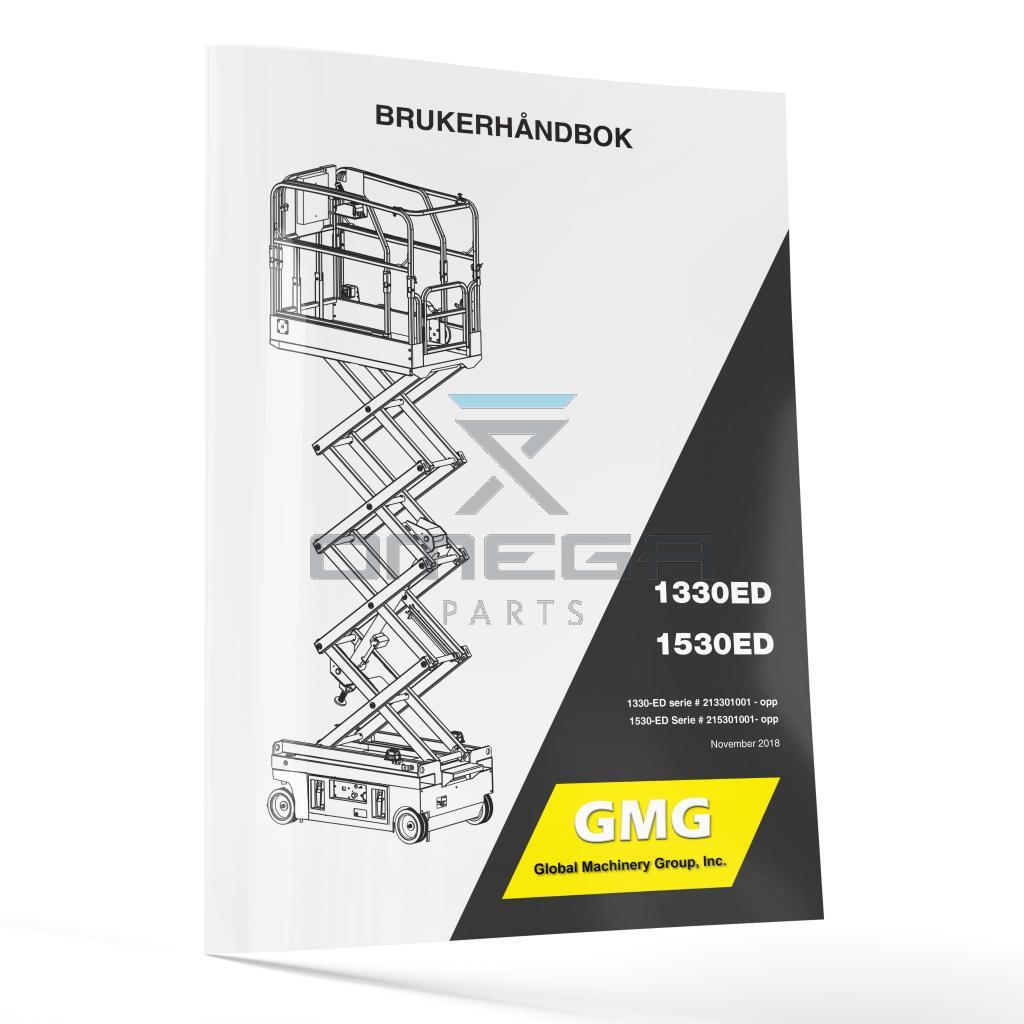 GMG  940200-1-NO Operator Manual - GMG 1330ED / 1530ED -- Norwegian --