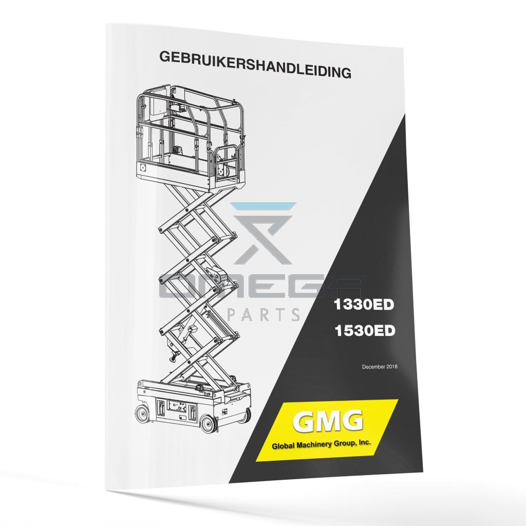 GMG  940200-1-NL Operator Manual - GMG 1330ED / 1530ED -- NL --